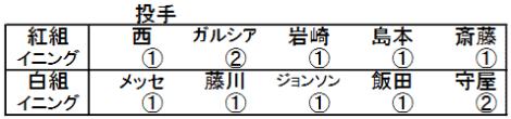 阪神タイガース紅白戦投手