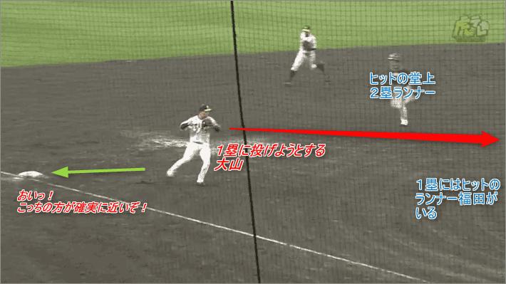 大山は3塁ベースを踏むべき